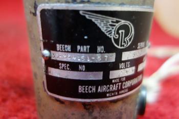 Beech Aircraft Corp Flap Motor 24V PN  35-364151-57