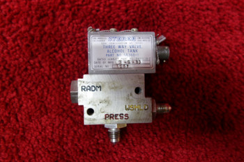 Sterer, Gates Learjet Alcohol Tank Three Way Valve PN 56360-1, 6608258-2