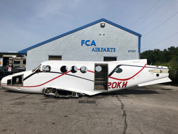 1975 Beechcraft E-90 King Air Fuselage Airframe (CALL OR EMAIL TO BUY)