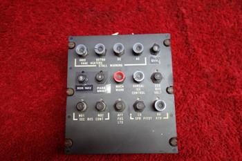 Sabreliner NA-265-80 Stall Warning Control Panel PN 370-540193-41, 380-541-83A