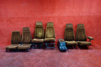 Piper PA-32R Articulating Pilot & Co-Pilot Seats W/ Rear Cabin Seats PN 79337-45 (CALL OR EMAIL TO BUY)