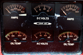 Lear Jet, Garwin Engine Instrument Cluster Gauges PN 22-166-012-2, S226-1