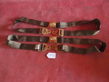 Beechcraft Cessna Piper AmSafe Gold Plated Aircraft Seat Belt Set 442868, 5000B2