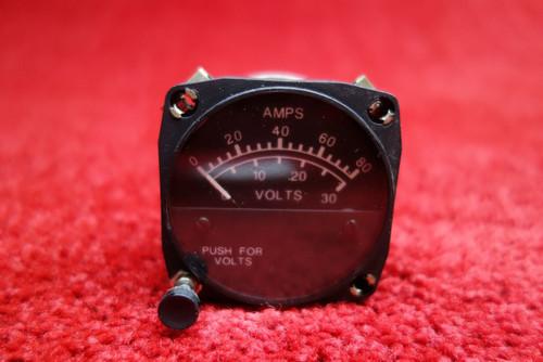 U.M.A. Inc. Dual Amps Volt Meter PN 15-200-80, VA1-042