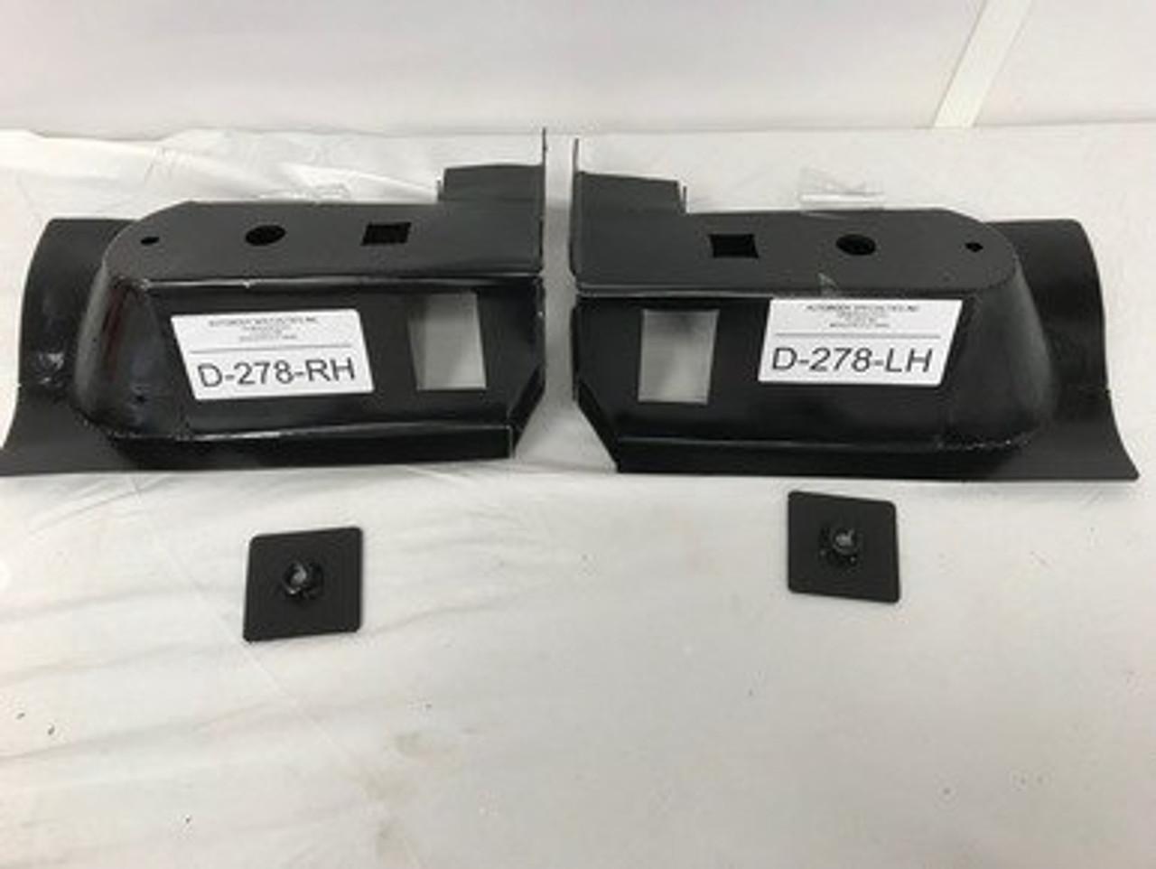 2000-11 DAKOTA 4 DOOR & 1998-2003 DURANGO STEEL FRONT CAB MOUNT SET W/NUT PLATES (except 2 door)