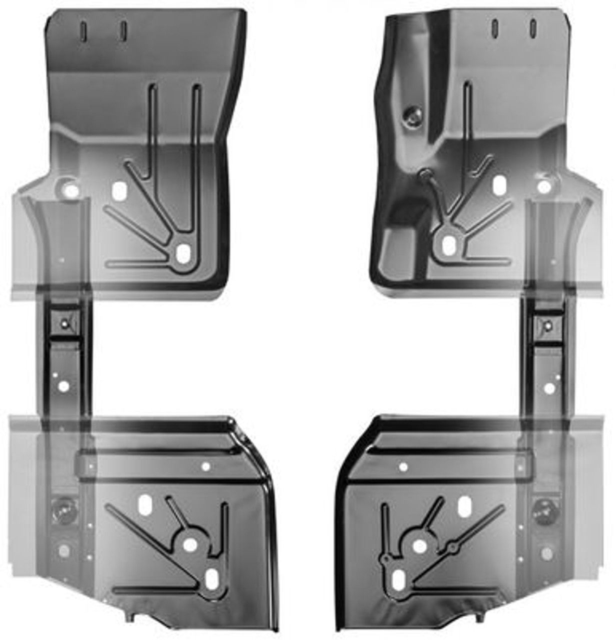 1997-06 WRANGLER TJ FLOOR PANEL / FLOOR BRACE KIT (6 pieces)