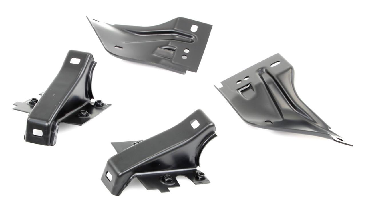 Rear Bumper Bracket Set - Inner & Outer (4pcs) - 68-69 Fairlane Torino
