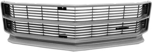 1971 CHEVELLE & ELCAMINO GRILLE-SILVER (EXCEPT SS)