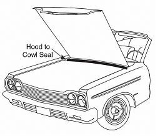 1961-62 IMPALA & FULL SIZE CHEVY HOOD TO COWL SEAL