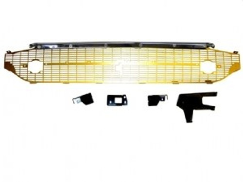 1957 CHEVY COMPLETE GOLD GRILLE (includes chrome brace kit)