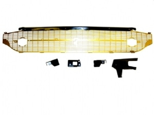 1957 CHEVY COMPLETE GOLD GRILLE (includes black brace kit)