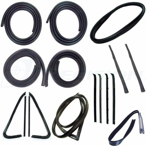 1973-1980 CHEVY & GMC PICKUP CAB WEATHERSTRIP KIT (without trim groove)