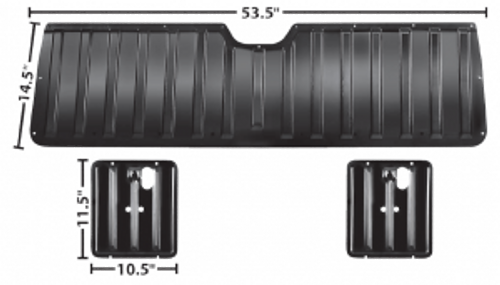 1964-67 ELCAMINO TAILGATE INNER PANEL SET (3 pieces)