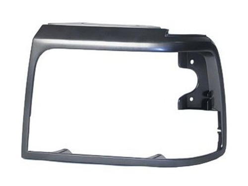 LH / 1992-98 FORD TRUCK HEADLIGHT BEZEL-GREY/DARK ARGENT