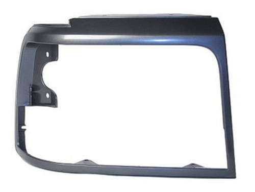 RH / 1992-98 FORD TRUCK HEADLIGHT BEZEL-GREY/DARK ARGENT