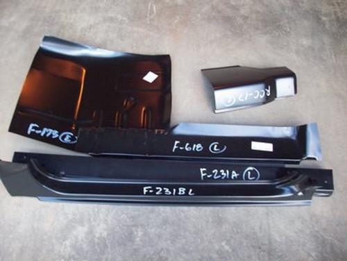 LH / 1980-86 FORD PICKUP 5 PC CAB REPAIR KIT (2 door standard cab)
