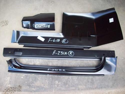 RH / 1980-86 FORD PICKUP 5 PC CAB REPAIR KIT (2 door standard cab)