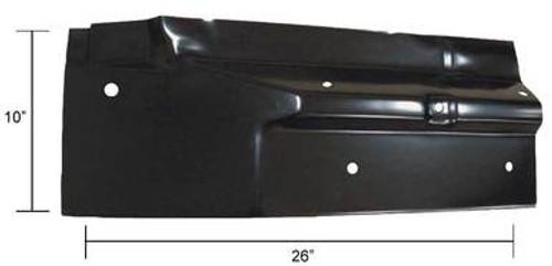 LH / 1967-72 CHEVY & GMC PICKUP REAR CAB FLOOR REPAIR PANEL (2 door standard cab)