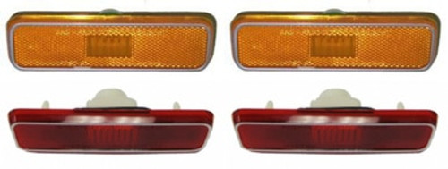 1972-76 A-BODY / 1972-74 E & B-BODY & 1981-93 DODGE TRUCK SIDE MARKER LIGHT SET (4 piece set)