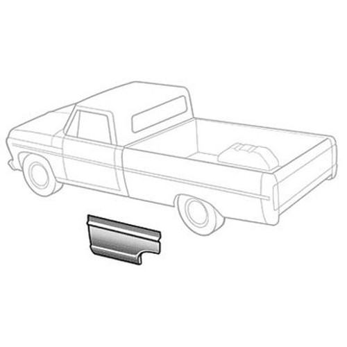 LH / 1967-72 FORD PICKUP BEDSIDE FRONT SECTION