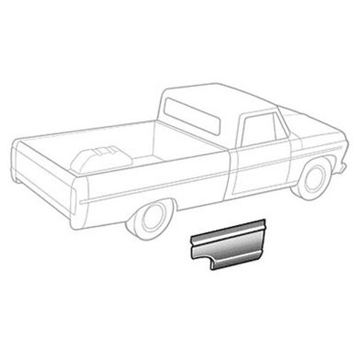 RH / 1967-72 FORD PICKUP BEDSIDE FRONT SECTION