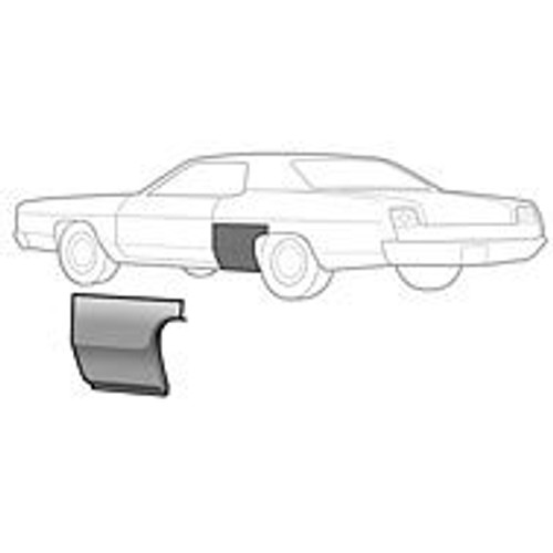 LH / 1969-70 FORD GALAXIE REAR QUARTER-FRONT SECTION