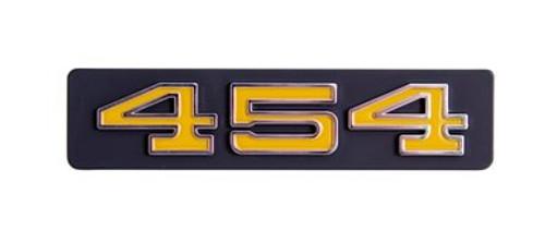 """GRILLE EMBLEMS   """" 454 """"  73-74   CHEVY C/K TRUCK / BLAZER / SUBURBAN"""
