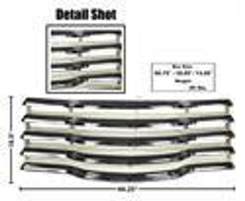 GRILLE ASSEMBLY  47-53  CHROME CHEVY