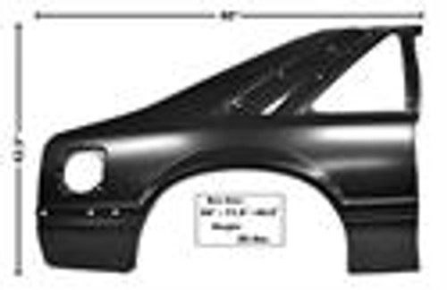 91-93 MUSTANG  RH REAR QUARTER PANEL     SHIP TRUCK FREIGHT    .. \EST  220.00