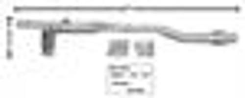 1965-1970 MUSTANG REAR FRAME RAIL FOR MINI TUB, RH     SHIP UPS   OVERSIZE  $ 15.00  EXTRA SHIPPING