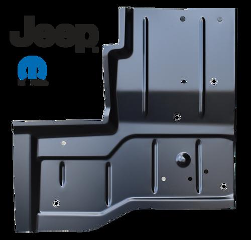 '76-'95 REAR FLOOR PAN, PASSENGER'S SIDE 0480-228 This OE Style rear floor pan, passenger's side fits:  1976-1986 Jeep CJ7 1987-1995 Jeep YJ Wrangler