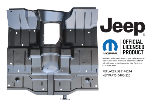 '87-'95 JEEP WRANGLER FULL FLOOR PAN ASSEMBLY