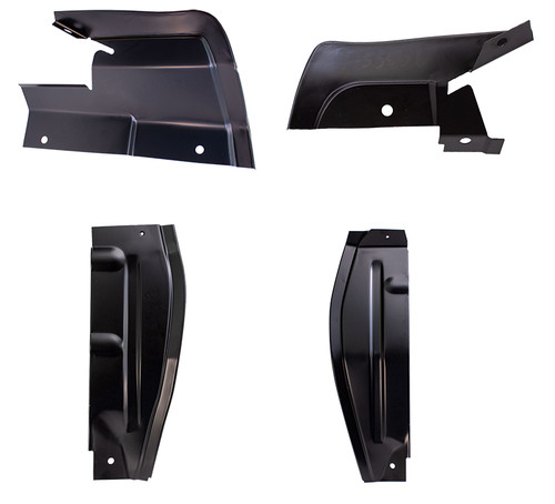 Upper & Lower Rear Fender Splash Shield Set (4pcs)  This fits: 1966 - 1967 Ford Fairlane 1967 Ford Ranchero 1966 - 1967 Mercury Comet 1966 - 1967 Mercury Cyclone