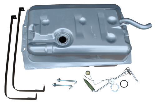 """'69-'72 BLAZER/JIMMY FUEL TANK KIT WITH ORIGINAL STYLE FILLER NECK 0857-401 This fuel tank kit fits:  This kit includes:  Fuel tank Gas tank hangers Fuel level sending unit Lock and """"O"""" ring Hanger bolts  1969-1972  Chevrolet Blazer  1969-1972 GMC Jimmy"""