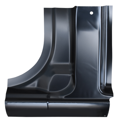THIS IS TO SECTION ONTO THE BACK OF THE ROCKER PANEL ON THE CUTAWAY VAN MODELS. THE CAB CORNER GOES OVER THE REAR SECTION OF THIS 0812-211 This cutaway model lower B pillar section, driver's side fits:  1996-2020 Chevrolet Express Cutaway Van 1996-2020 GMC Savana Cutaway Van