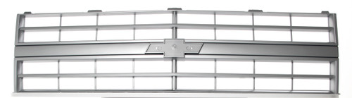 Premium Grille - OE Style w/ Emblem Mount - Argent Gray (Single Headlight) - 85-86 C/K or 87-88 R/V Chevy Pickup Blazer Suburban Replaces GM part# 15598720 & 15554910   This fits: 1985 - 1988 Chevy Blazer w/ Single Headlamps 1985 - 1988 Chevy C10 Pickup w/ Single Headlamps 1985 - 1988 Chevy C20 Pickup w/ Single Headlamps 1985 - 1988 Chevy C30 Pickup w/ Single Headlamps 1985 - 1988 Chevy K10 Pickup w/ Single Headlamps 1985 - 1988 Chevy K20 Pickup w/ Single Headlamps 1985 - 1988 Chevy K30 Pickup w/ Single Headlamps 1985 - 1988 Chevy Suburban w/ Single Headlamps
