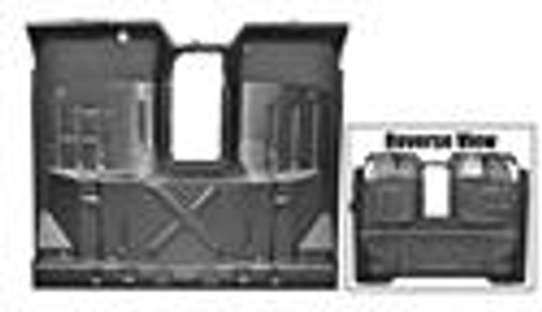 CAB FLOOR ASSY 67-72 STANDARD W/ CAB MOUNT, INNER ROCKER, CROSSMEMBER       2   WHEEL DRIVE ONLY