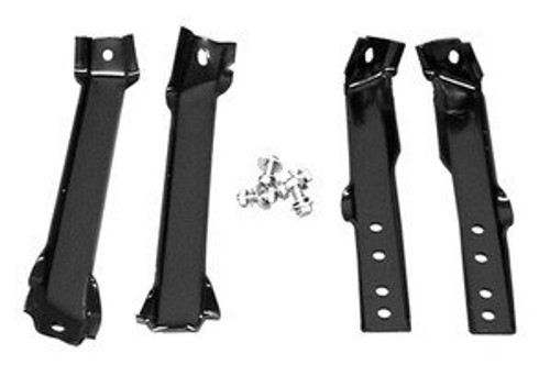 1960-62 CHEVY & GMC PICKUP REAR BUMPER BRACKET SET (fleetside)