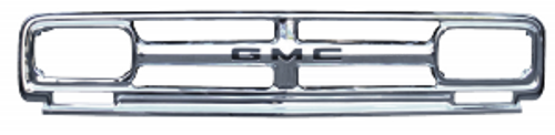 1967 GMC PICKUP CHROME OUTER GRILLE FRAME (with gmc letters)