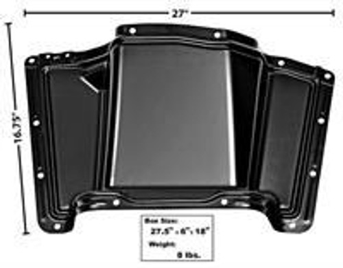 1960-1963 CHEVY & GMC PICKUP TRASMISSION COVER (2WD floor shift and all 4WD models)