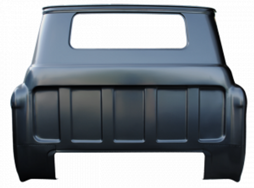 1955-59 CHEVY & GMC PICKUP FULL REAR OUTER CAB PANEL (small back glass)