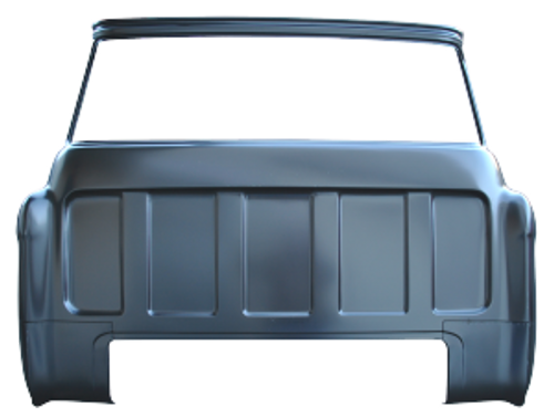 1955-59 CHEVY & GMC FULL REAR OUTER CAB PANEL (large back glass)