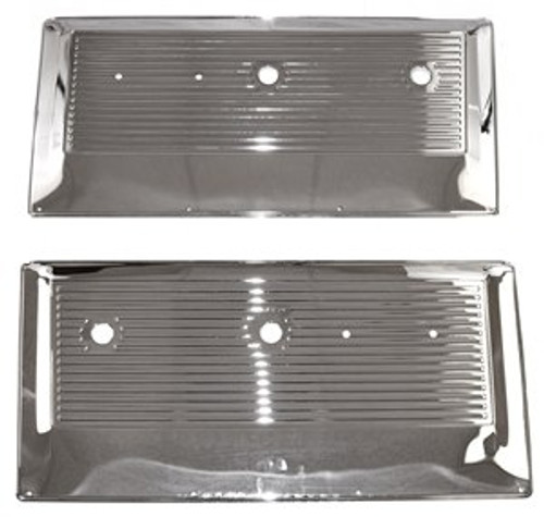 1967-1971 CHEVY & GMC PICKUP CHROME INNER DOOR PANEL SET (sold as a pair)