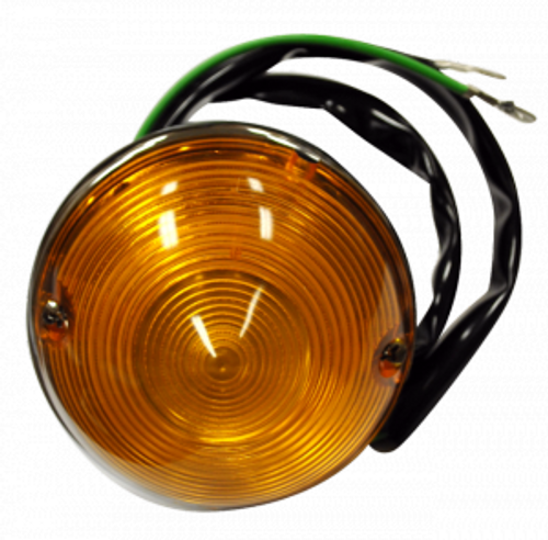 1955-57 CHEVY PICKUP PARKLIGHT ASSEMBLY (with amber lens)