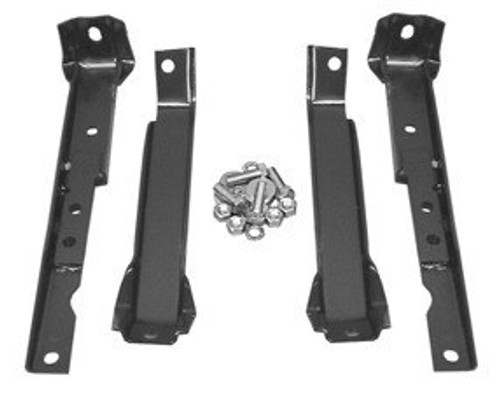 1967-72 CHEVY & GMC PICKUP 4PC REAR BUMPER BRACKET SET (short bed w/ leaf springs)