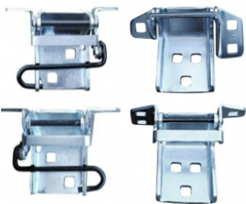 1973-91 CHEVY & GMC TRUCK UPPER & LOWER DOOR HINGE SET (4 piece kit)