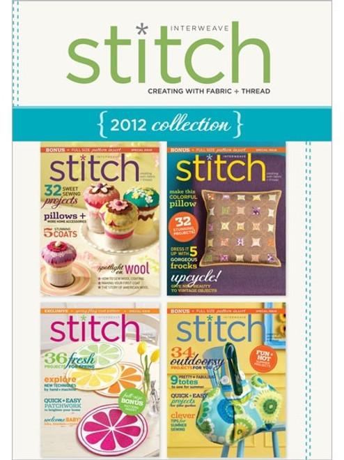 Interweave Stitch Magazine 2012 Collection CD 4 Issues