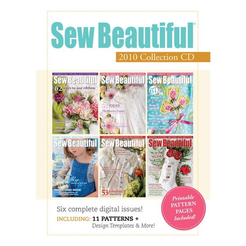 Sew Beautiful Magazine 2010 Collection CD 6 Issues