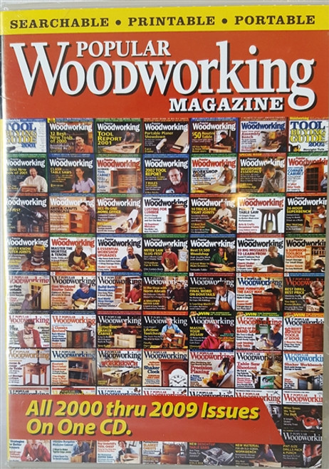 Popular Woodworking Magazine 2000-2009 CD 69 Issues