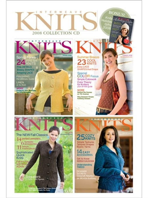 Interweave Knits Magazine 2008 Collection CD 4 Issues